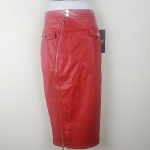 Hera Collection Sample red Skirt with zipper small